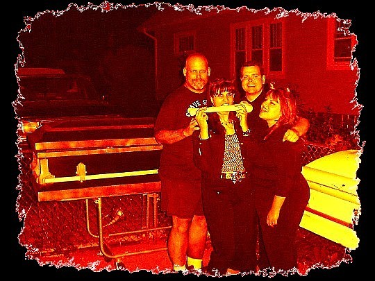 Scary Perry (Grave Sights Hearse Club founder), Buried Branka, Ghoulish Greg & Luscious Linda