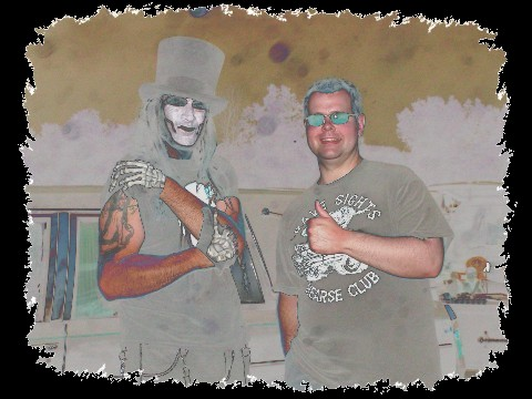 Dr. Destruction (host of Dr. Destruction's Crimson Theatre) & Greg